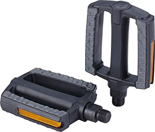 """BBB Cycling City Bike Pedals Flat 9/16"""" with Reflectors Anti-Slip Rubber for All Bicycle's SteadyRider BPD-44 Steady Secur..."""