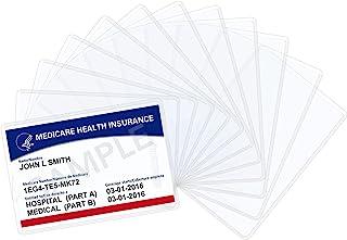 Wisdompro Lot de 20 pochettes de protection pour cartes souples en PVC transparent pour carte de sécurité sociale, carte ...