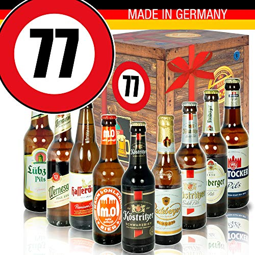 Geburtstagsgeschenk - Ostdeutsche Biere - Zahl 77 - Geburtstags Geschenk Vater
