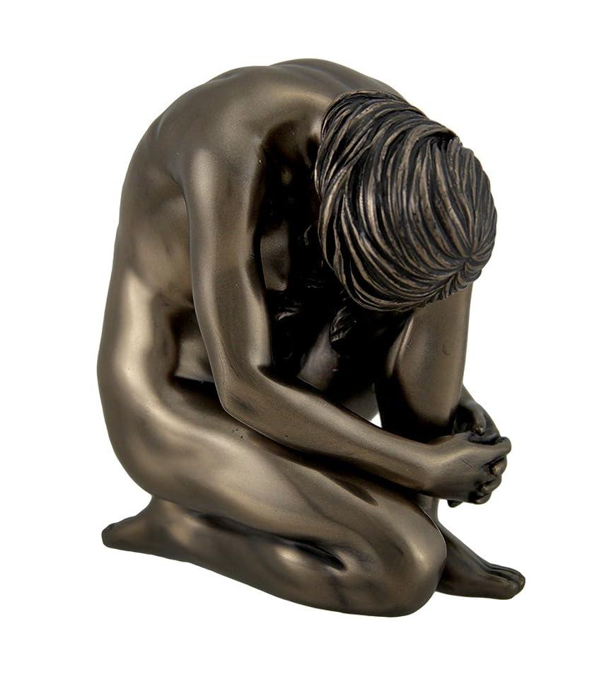太陽北極圏有能なResin Statuesブロンズ仕上げヌードKneeling Female Statue 4?1?/ 4インチTall 4?x 4?x 3.5インチブロンズモデル# wu75080?a1