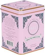 Harney & Sons Caffeinated Green Tea with Coconut Tin 20 Sachets