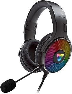 BINDEN Audífonos Gamer HG22 Headset con Sonido Virtual 7.1 Audifonos con Micrófono Desmontable y Control de Volumen Diadema con Luz RGB Compatible con Entrada USB Laptop y PC, Negros.
