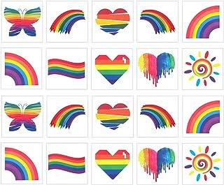 Beaupretty 40 vellen regenboog, tijdelijke tatoeages, hart, vlinders, gezicht, sticker, decoratie