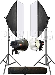 OCTOVA Simpex Studio Light SL-30 Professional Soft Led Video Light Softbox Kit (2) with AC Adapter for YouTube Videos Shooting,Videography, Portrait, Product Photography,Studio Lights for Photography