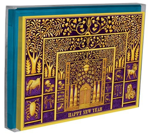 Tree-Free Greetings Rosh Hashanah Holiday Boxed Cards, 5 x 7 Inches, 12 Cards and Envelopes per Set, Multi-Color (91144)