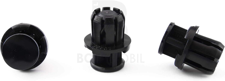 17 X 28 X 6 mm Viti Spianati Clip Di Attaccamento//Fissaggio BOSSMOBIL Plastica Rivetti Spianati