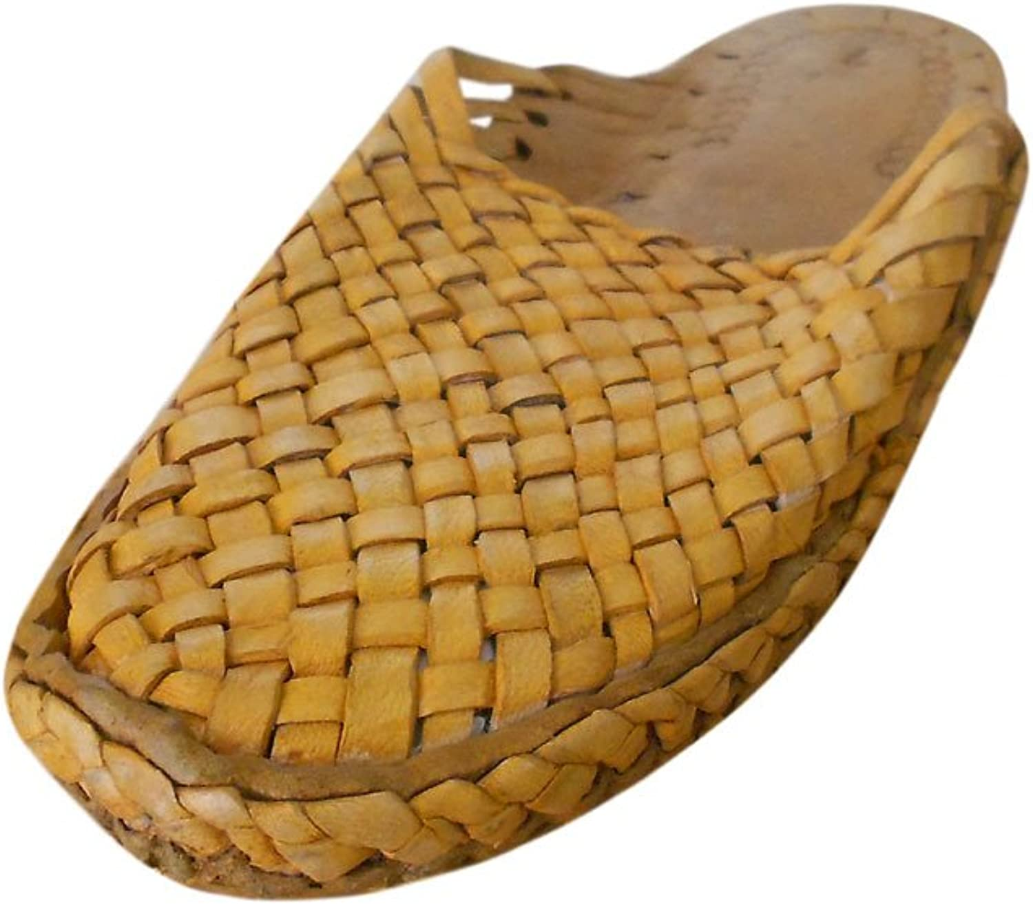 Kalra Creations Men's Traditional Indian Leather Ethnic Slippers