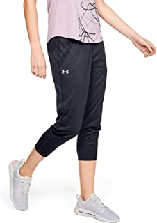 Under Armour Women's Play Up Tech Capris PANTS, Grey (Black/pitch Gray/metallic Silver), X-Large