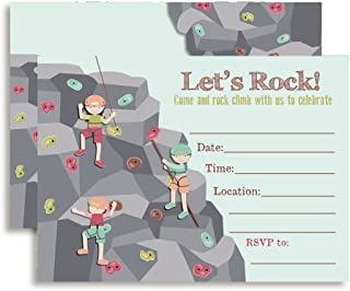rock climbing birthday party invitations printable