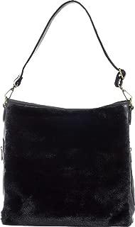 Sourpuss Brand - Black Faux Fur Sure - Hobo Purse, 14