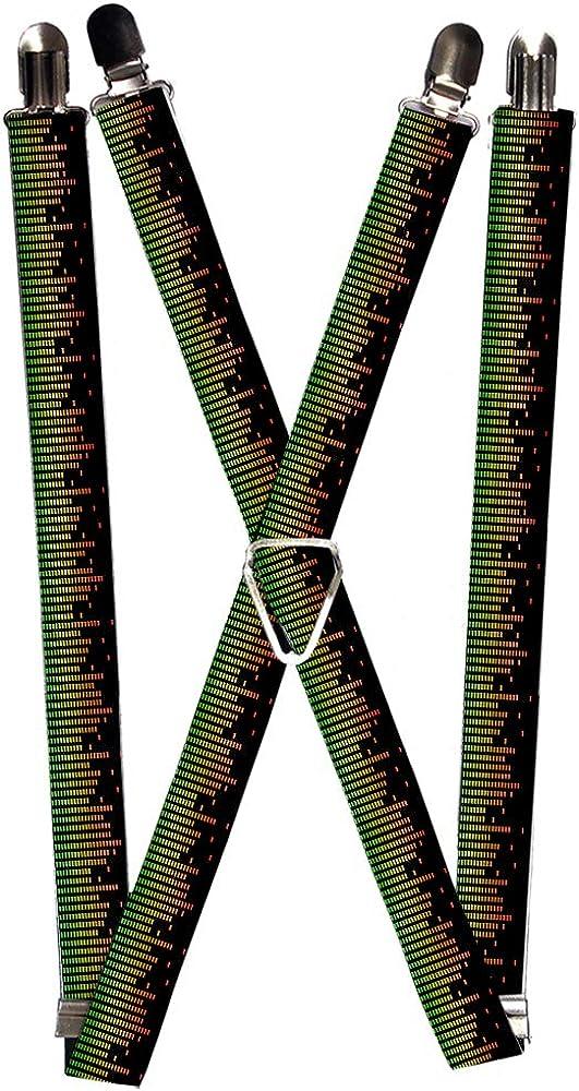 Buckle-Down Men's Suspender-Sound Waves, Multicolor, One Size