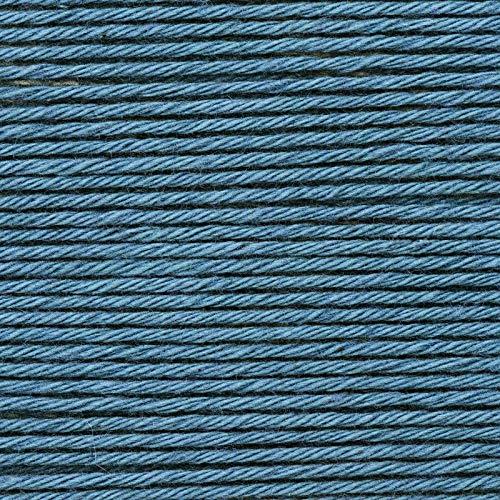 Rico Baby Cotton Soft dk Fb. 057 graublau, weiche Babywolle, Baumwollmischgarn zum Stricken & Häkeln
