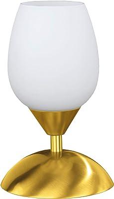Wofi Flame 814101320500 - Lampada da tavolo a 1 luce, altezza 21 cm, in ottone opaco