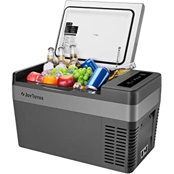 JoyTutus 26 Quart(25L) Portable Car Refrigerator, 15Min Fast Cooling Car Fridge Freezer(-7.6℉~50℉), Electric RV Car Cooler Refrigerator for Vehicle, Boat, Home Use with Camping, Travel-12V/24V DC