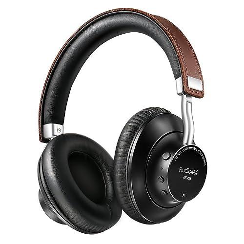AudioMX Cascos Inalámbricos Bluetooth Auriculares Diadema con Micrófono Incorprado Bluetooth 4.1 apt-X, Dura