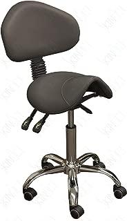 SkinAct Esthetician Saddle Stool (Black)