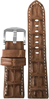 Genuine Hornback Alligator Watch Band with Stitching by Panatime