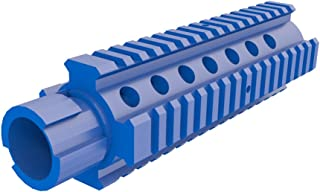 Toy M4 Barrel Extension for Nerf Models with an Interchangeable Barrel Compatible with N-Strike Stryfe Longshot Mediator Recon and More! - (Not an Official Nerf Product) (Blue)