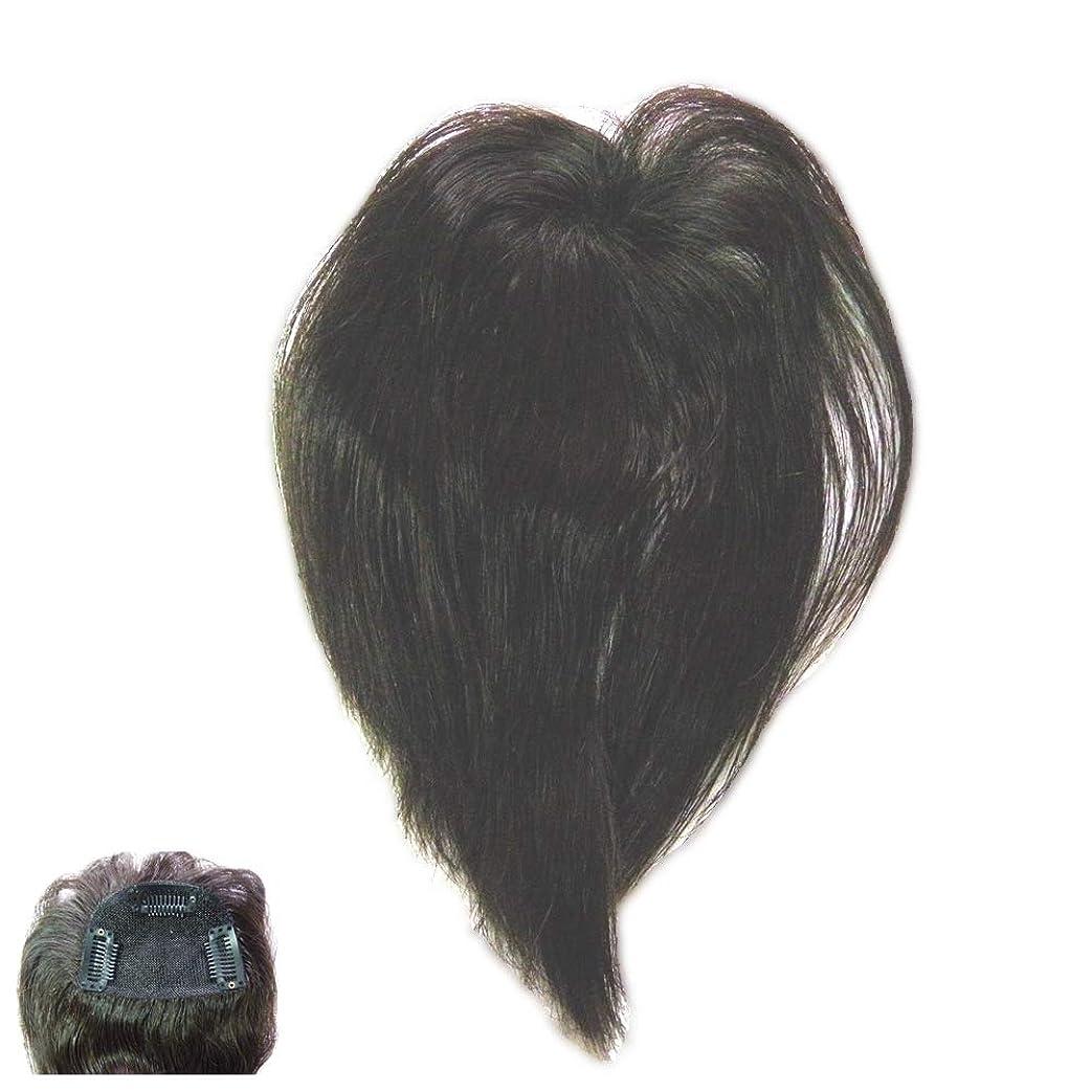素朴な涙思慮深い(パッケージ不良)ファッション?トップウイッグ★人毛と耐熱形状ファイバーのデラックス仕様 Type13