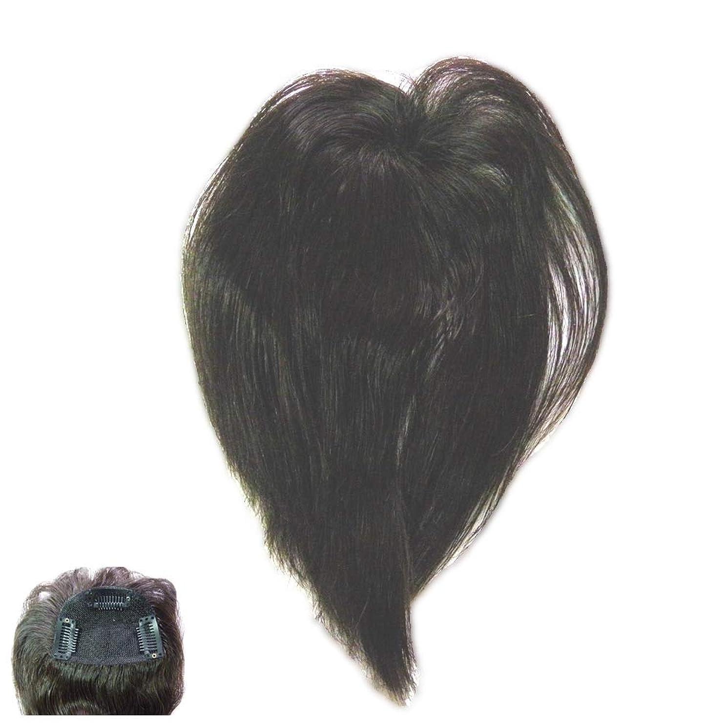 接辞肖像画暴徒(パッケージ不良)ファッション?トップウイッグ★人毛と耐熱形状ファイバーのデラックス仕様 Type13