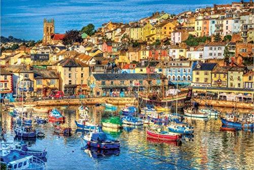 RHRW Puzzle de 1000 Piezas de Rompecabezas de Madera Oporto Encantador diversión Madera Regalo Adulto niño 75 * 50 cm