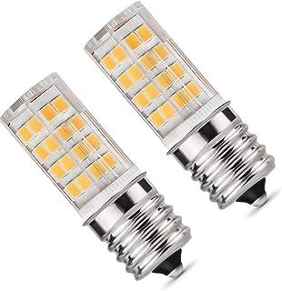 E17 LED Bulb,Microwave Oven Light Dimmable 5 Watt Warm White 3000K 52X2835SMD AC110-130V (Pack of 2)