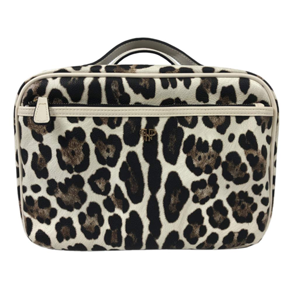 Same day shipping Getaway Liea Toiletry Opening large release sale Cream Leopard Case