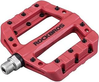 RockBros MTB Pedals Mountain Bike Pedals Lightweight Nylon Fiber Bicycle Platform Pedals for BMX MTB 9/16