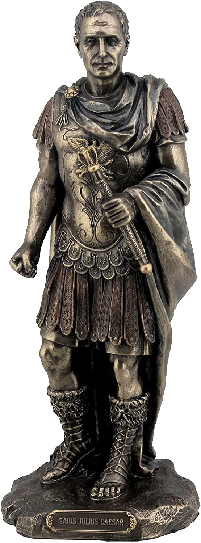 Gaius Julius Caesar in Roman Statue Long Beach Mall Fini Manufacturer OFFicial shop Uniform Bronze Military