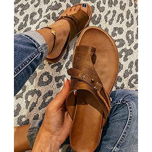 Blichip Flat Heel Slides Solid Summer Leisuer Comfortable 2021 Women Beach Shoes Fashion Slipper Sandals Big Size 43-92959