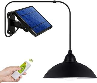 Luz Solar, Instalación de Separación Luz del Sensor Solar, Foco Solar Sensor de Movimiento con Mando a Distancia, Combinación Exterior/Interior, para Entrada, Jardín, Camino, Césped
