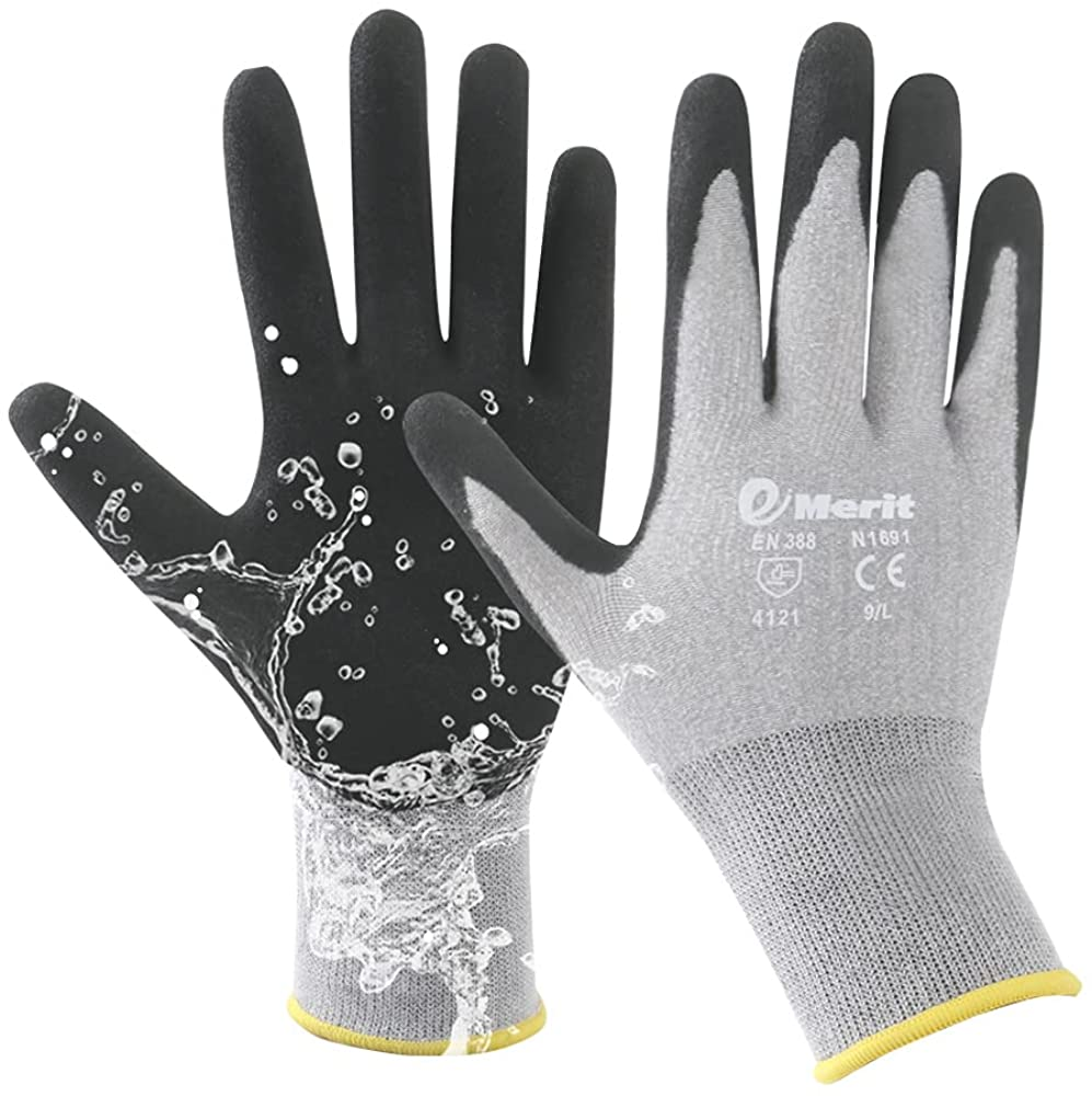 2 Pairs Bamboo Garden Gloves for Sale Special Price Working G Coated Women Nitrile Topics on TV