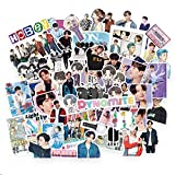BTS Sticker Pack BTS 77Pcs-132Pcs Map of The Soul ON Sticker Pack Cartoon Waterproof vinly Stickers for Laptop Dynamite Sticker Notebook Kpop Sticker (77Pcs)