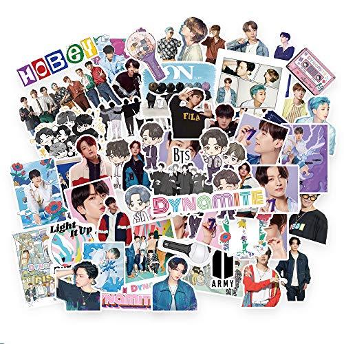 Kpop BTS Sticker Pack 77Pcs BTS Map of The Soul 7 Aufkleber BTS Dynamite Aufkleber BTS Cartoon Wasserdichte Vinyl Aufkleber für Laptop Notebook