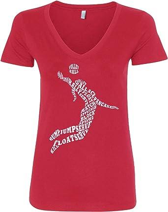 Threadrock Women/'s Volleyball Player T-shirt Game Set Match Racket
