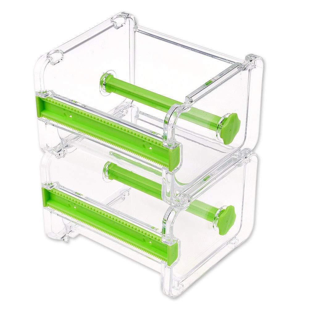 Dometool - Portarrollos de cinta adhesiva con cortados, organizador de mesa de escritorio, 2 unidades: Amazon.es: Bricolaje y herramientas