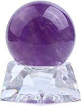 Jovivi 35mm Natural Amethyst Healing Crystal Gemstone Ball Divination Sphere Sculpture Figurine with Acrylic Stand Feng Sh...