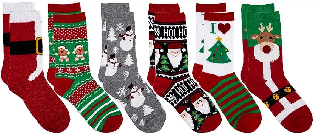 Women Christmas Stocking Socks Fuzzy Slipper Socks Warm for Home Sleep