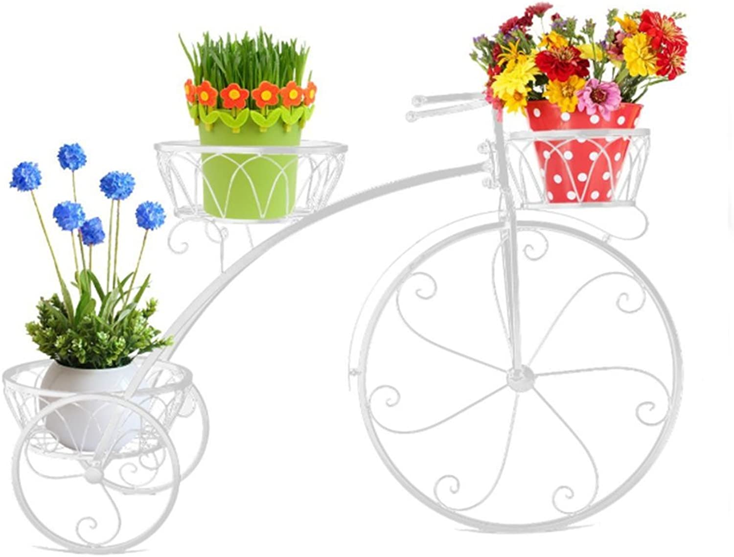 Plant Storage Rack Wrought Iron Flower Stand - Living Room Balcony Decorative Flower Stand - Multi-Layer Potted (color   White)