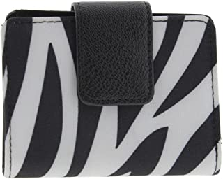 Womens Zebra Print Photo Bifold Wallet