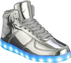 Coshare Women's Fashion USB Charging LED Light Up Rave Flashing Sneakers