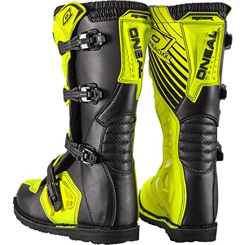 O'Neal Rider Boot MX Stiefel Hi-Viz Neon Gelb Motocross Enduro Motorrad, 0329-5, Größe 43 - 3