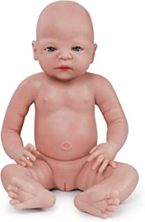 Vollence 22 Inch Lifelike Baby Dolls That Look Real,Not Vinyl Material Dolls,Real Full Weighted Silicone Baby Doll,Newborn Baby Dolls,Handcrafte Collectible Realistic Baby Dolls - Girl