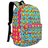 Zicac Canvas Backpack Smiling Face Satchel Printed Daypack