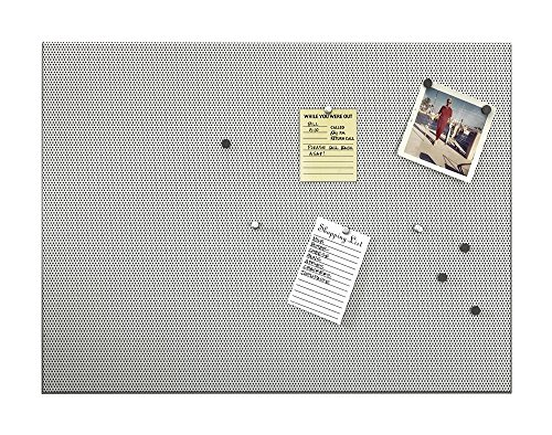 Umbra Bulletboard – Cork Board Bulletin Board and Magnetic Board for walls – Modern Look with Dual Surface Design – Includes 12 Pushpins and 12 Magnets 21x15 Inches