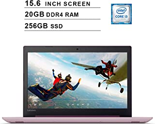 Lenovo 2019 Ideapad 330 15.6 Inch HD Laptop (Intel Core i3-8130U up to 3.4GHz, 20GB RAM, 256GB SSD, Intel UHD Graphics 620, Bluetooth, HDMI, Windows 10) (Purple)