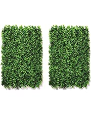 Fortune Industries Artificial Grass Vertical Wall Small Leaves Tiles | Vertical Garden Wall Tiles (40 X 60 cm, Set of 2) Code No-A
