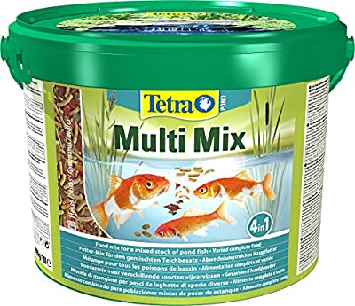 Tetra Pond Multi Mix, Complete Varied Fish Food for A Mixed Stock of Pond Fish, 10 Litre by Tetra