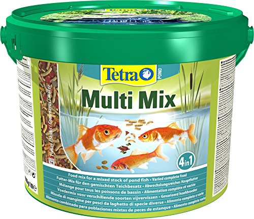 Tetra Pond Multi Mix, Complete Varied Fish Food for A Mixed Stock of Pond Fish, 10 Litre