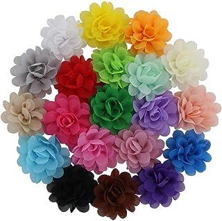 Juego De 20 Lazos De Cabello Para Niñas Alusivos A Flores Rosas - En Colores Surtidos